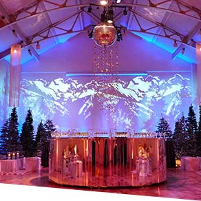Alice in Winterland Theme Christmas Party