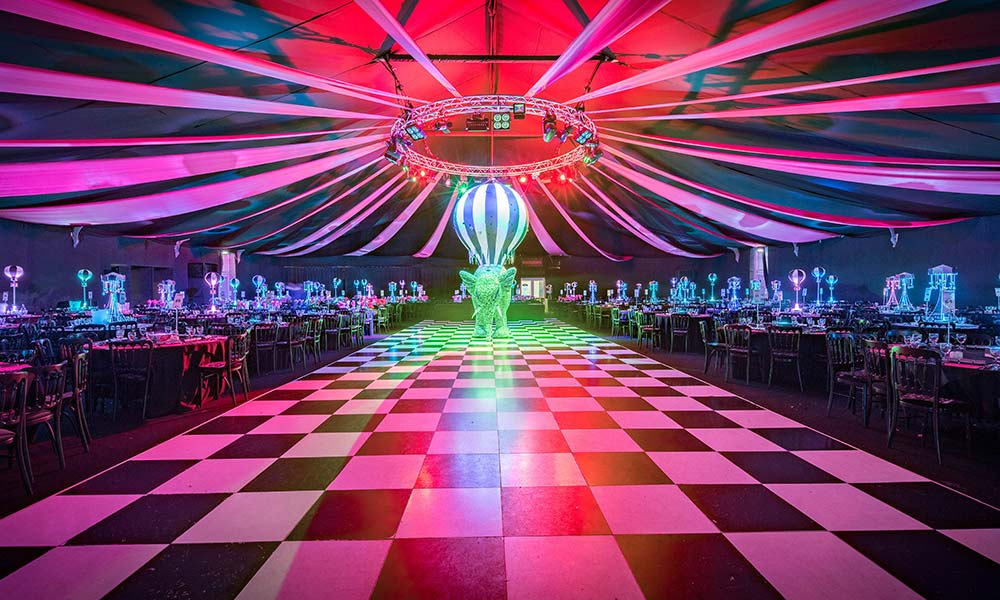 Circus theme Christmas Party