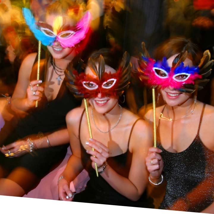 Masquerade Ball theme Christmas party